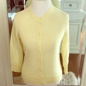 JCREW: Clare Cardigan COLOR: Pale Yellow